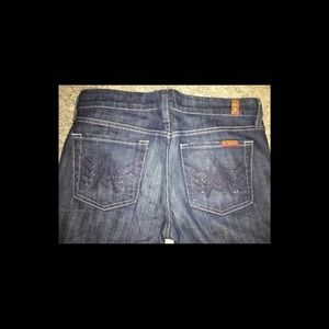 "7 For All Mankind ""A"" pocket flare jeans denim"